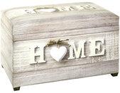 TRUHE , Mehrfarbig , 65x42x40 cm , Deckel aufklappbar, geeignet zum Sitzen , Wohnzimmer, Kleinmöbel, Truhen