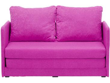 Carryhome JUGEND- UND KINDERSOFA Mikrofaser Rosa , Uni, 2-Sitzer, 116x69x64 cm