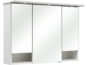 Carryhome SPIEGELSCHRANK Weiß , 3 Fächer, 95x71.6x20 cm