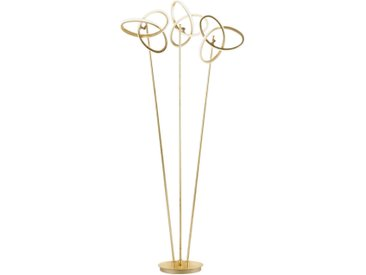 Wofi LED-STEHLEUCHTE , Gold, Metall, 60x140x30 cm
