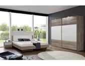 MID.YOU SCHLAFZIMMER , Weiß, Eiche , 2 Fächer , 180x200 cm , Made in Germany , Schlafzimmer, Komplette Schlafzimmer