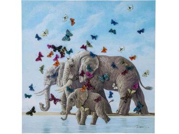 Kare-Design BILD Tiere , Mehrfarbig, Holz, Tanne, massiv, 120x120x3.5 cm