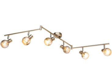 XXXLutz STRAHLER, Grau, Metall, Glas, 133x18 cm