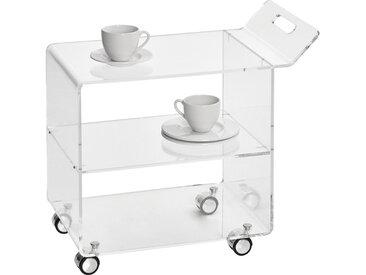 XXXLutz SERVIERWAGEN Weiß , Kunststoff, 63x59x38 cm