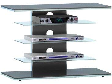 Livetastic TV-RACK Metall, Glas Schwarz , 80x66x42.5 cm