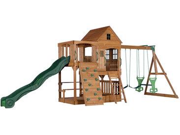 XXXLutz Spielturm Hill Crest , Grün, Holz, Zeder, massiv, 537.2x290x409 cm