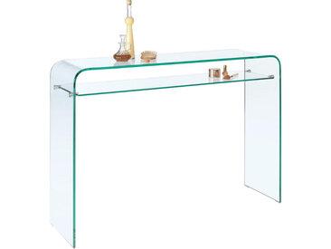 XXXLutz KONSOLE Weiß , Glas, 35x85 cm