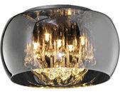 DECKENLEUCHTE , Chrom , Metall, Glas , rund , 24.0 cm , Innenbeleuchtung, Deckenleuchten