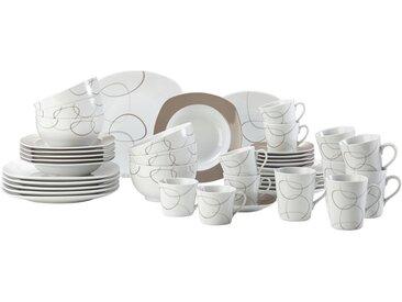 Ritzenhoff Breker Porzellan KOMBISERVICE 42-teilig , Weiß, Keramik