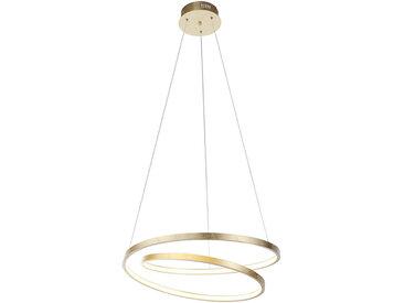 XXXLutz LED-HÄNGELEUCHTE , Gold, Metall, Uni, 120 cm