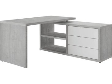 Carryhome: Tisch, Grau, Weiß, B/H/T 150 74 140