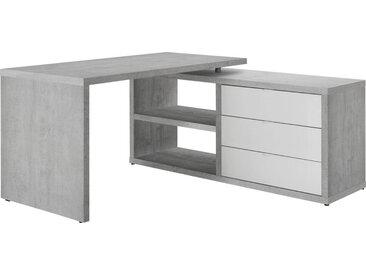 Carryhome ECKSCHREIBTISCH Weiß , Metall, 150x74 cm