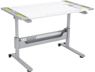 Paidi JUGENDSCHREIBTISCH Weiß, Grün , Kunststoff, 120.4x53-79x70.4 cm