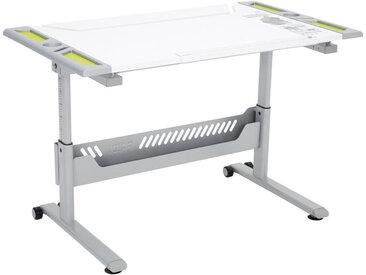 Paidi JUGENDSCHREIBTISCH Weiß, Grün , Silber, Weiß, Grün, Kunststoff, 120.4x53(79) cm