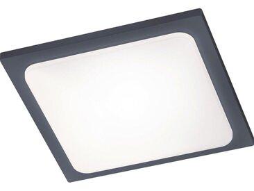 XXXLutz AUßENDECKENLEUCHTE, Grau, Metall, 25x25 cm