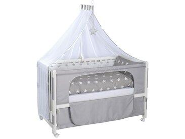 Roba GITTERBETT-KOMPLETTSET Room Bed Little Stars Weiß , Holz, Stern, 60x120 cm