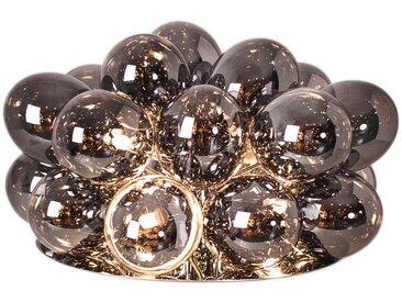 By-Rydens TISCHLEUCHTE, Grau, Silber, Metall, Glas, 38x32 cm
