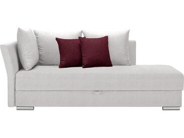 Livetastic LIEGE Webstoff Weiß , Uni, 4-Sitzer, 220x93x100 cm