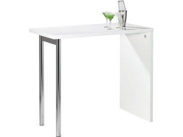 Carryhome: Tisch, Weiß, Chrom, B/H/T 60 105 120