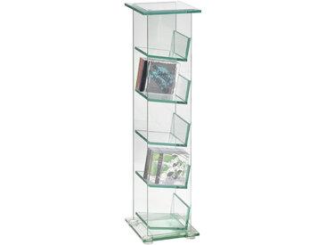 Novel CD-STÄNDER Weiß , Glas, 22x88x24 cm