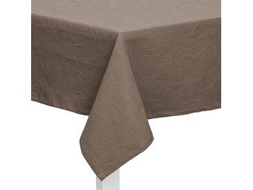 TISCHDECKE Textil Jacquard Taupe 135/220 cm