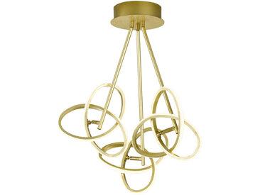 Wofi LED-DECKENLEUCHTE , Gold, Metall, 60x60x30 cm