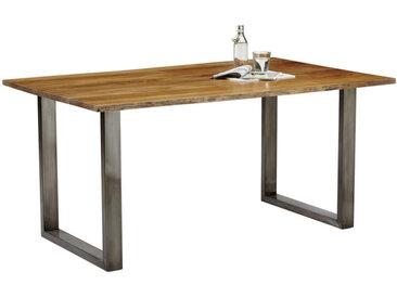 Carryhome ESSTISCH Akazie massiv rechteckig Braun , Holz, 90x78 cm