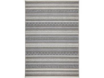 Novel OUTDOORTEPPICH In-/ Outdoor 160/230 cm Schwarz, Grau , Streifen, 160 cm