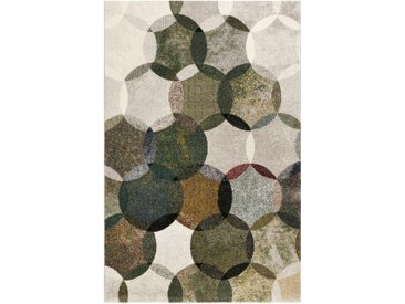 Esprit WEBTEPPICH 133/200 cm Mehrfarbig, Grün, Olivgrün , Grün, Mehrfarbig, Grün, Olivgrün, Graphik, 133 cm