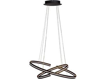 Ambiente LED-HÄNGELEUCHTE , Schwarz, Metall, Kunststoff, Uni, 40x160 cm