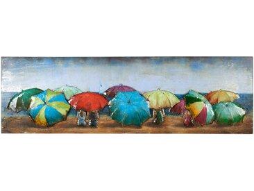 Monee METALLBILD Strand & Meer , Mehrfarbig, Metall, 180x55 cm
