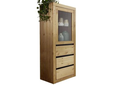 Livetastic HIGHBOARD Kiefer massiv Braun , Holz, 1 Fächer, 62x150x42 cm