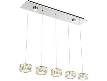 XXXLutz LED-HÄNGELEUCHTE , Metall, Kunststoff, 85/40 mm, 16x120 cm
