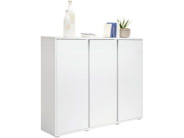 Xora SCHUHSCHRANK Weiß , 18 Fächer, 145x120x34 cm