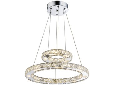 XXXLutz LED-HÄNGELEUCHTE , Silber, Metall, Kunststoff, 150 cm