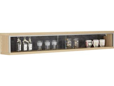 Cantus WANDREGAL Eiche teilmassiv Braun, Silber, braun , Eiche, Edelstahl, Schiefer, Holz, Metall, Glas, teilmassiv,furniert, 184x27x23 cm
