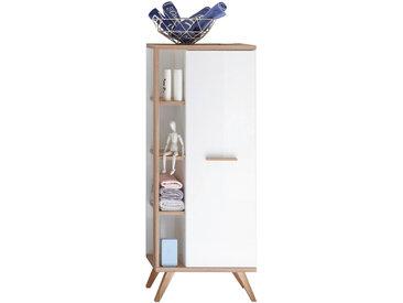 Xora MIDISCHRANK Weiß, Braun , Glas, 2 Fächer, 50.5x128.0x33.0 cm