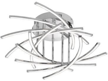 XXXLutz LED-DECKENLEUCHTE , Weiß, Chrom, Metall, Kunststoff, 26 cm