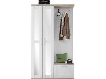 Xora GARDEROBE Weiß, Braun , Glas, 115x201x38 cm