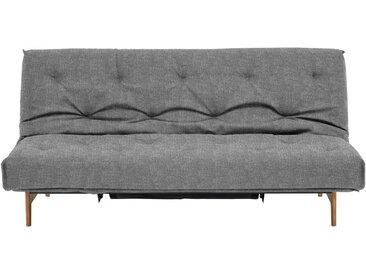 Innovation SCHLAFSOFA Grau , Holz, Metall, Eiche, massiv, 3-Sitzer, 200x86x97 cm