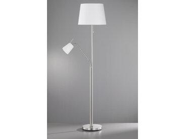 XXXLutz STEHLEUCHTE, Weiß, Silber, Metall, 175 cm