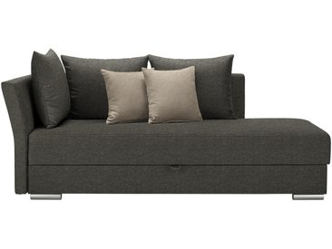 Livetastic LIEGE Webstoff Grau, Beige , Uni, 4-Sitzer, 220x93x100 cm