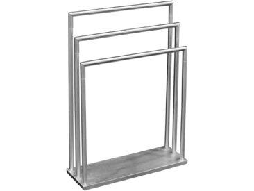 XXXLutz HANDTUCHSTÄNDER, Silber, Metall, 58x83x20 cm