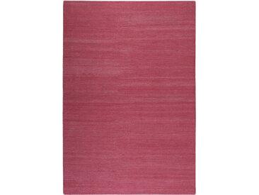Esprit Wollteppich 130/190 cm Rosa , Uni, 130 cm