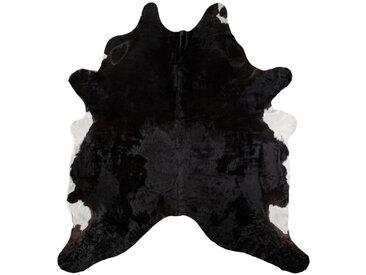 Linea Beigea RINDERFELL 160/250 cm Mehrfarbig , Mehrfarbig, Schwarz, Fell, Echtleder, Tier, 160 cm
