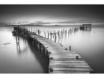 Euroart ACRYLGLASBILD Landschaft & Beige , Weiß, Kunststoff, 80x120x1.70 cm