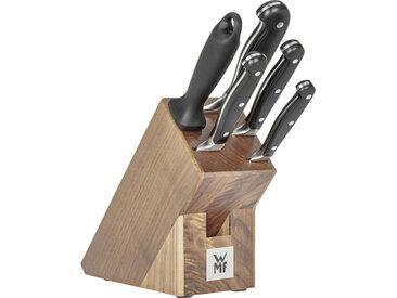 WMF MESSERBLOCK Stahl 6-teilig , Braun, Silber, Holz, Metall, Walnuss, 19.5x14.5x36 cm