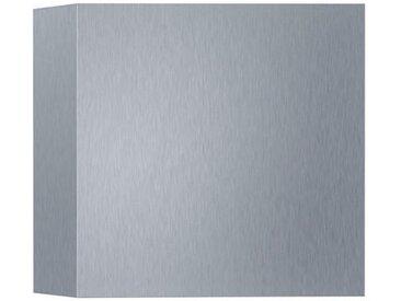 XXXLutz AUßENWANDLEUCHTE Silber , Metall, 10x10 cm