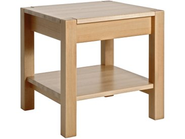 XXXLutz BEISTELLTISCH Buche massiv quadratisch Braun , Holz, 43x45x43 cm