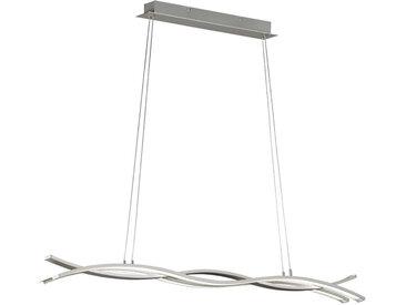XXXLutz LED-HÄNGELEUCHTE , Nickel, Metall, 118.5x150 cm